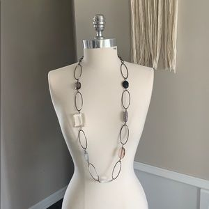 Express Long Beaded Chain Necklace